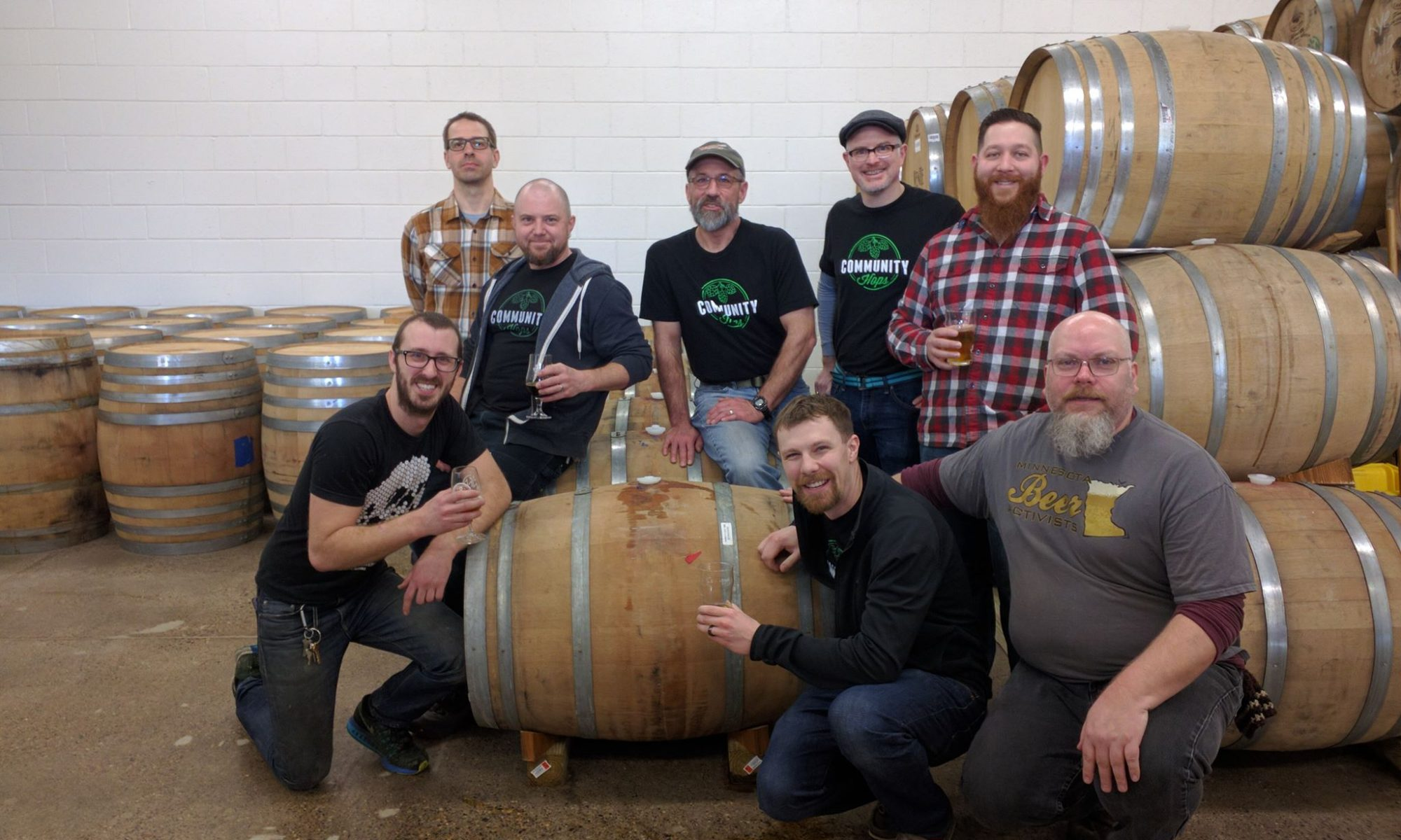 Wild Mind Community Barrel Project barrel is in place. We'll age this for three months then bottle up our beer!